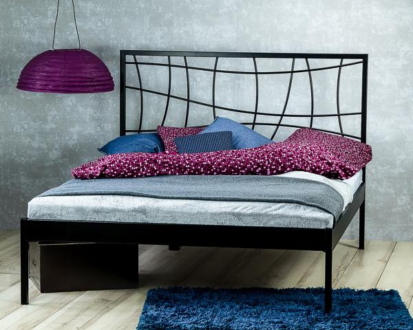 Łóżko metalowe Ebru jeden szczyt