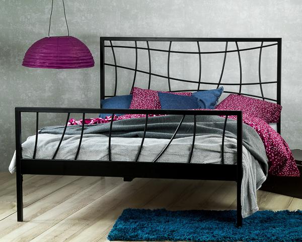 Łóżko metalowe Ebru dwa szczyty