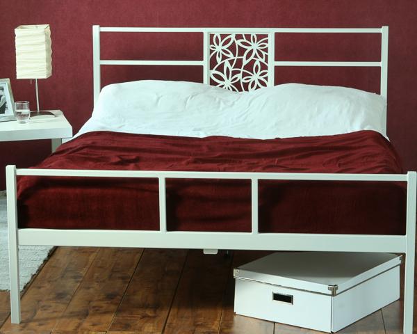 Łóżko metalowe Floe dwa szczyty