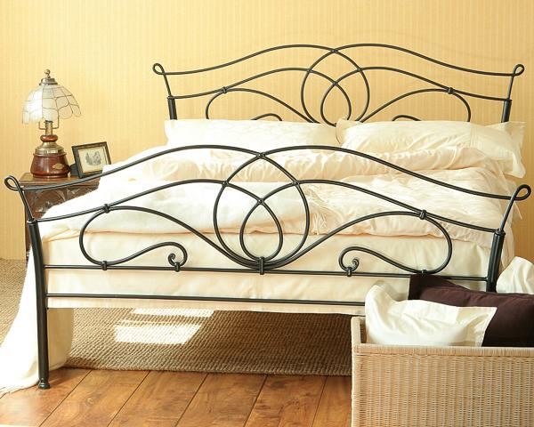 Łóżko metalowe kute Iris II dwa szczyty