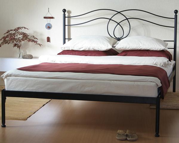 Łóżko metalowe kute Lotos jeden szczyt