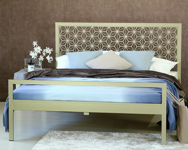 Łóżko metalowe Stella dwa szczyty