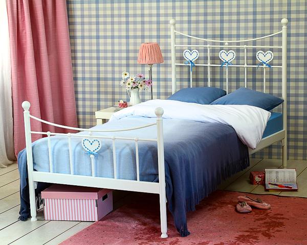 Łóżko metalowe Sweety dwa szczyty