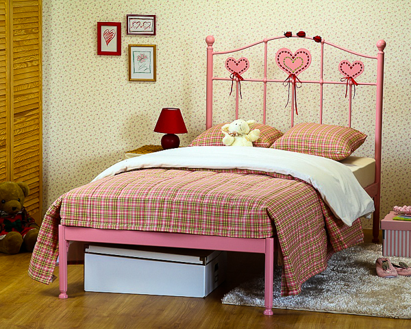 Łóżko metalowe Sweety II jeden szczyt