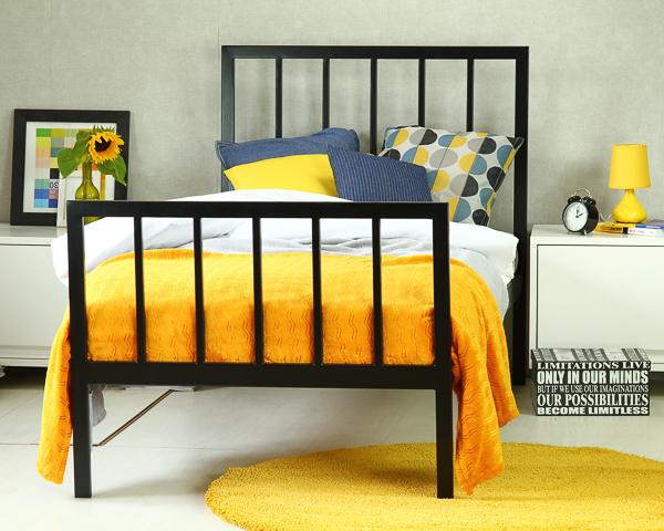 Łóżko metalowe Simply II dwa szczyty