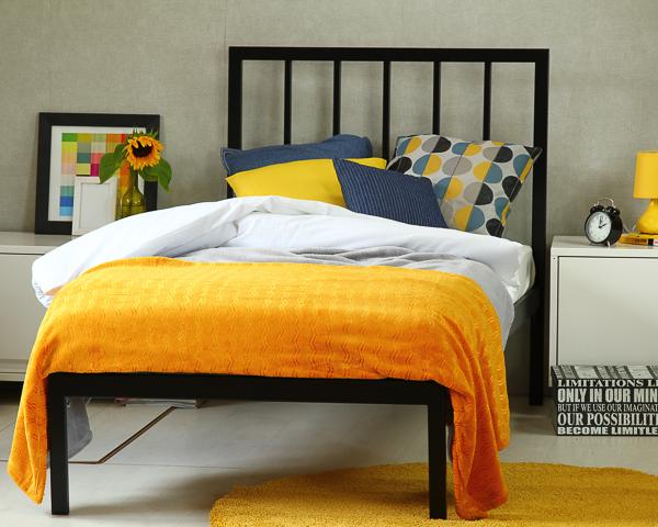Łóżko metalowe Simply II jeden szczyt