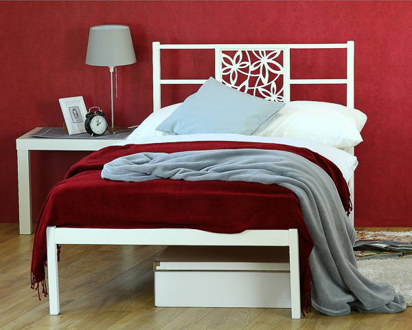 Łóżko metalowe Floe jeden szczyt